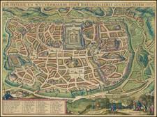Holy Land and Jerusalem Map By Jacob Savry