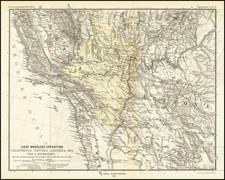 Arizona, Utah, Nevada, Utah and California Map By Augustus Herman Petermann