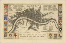 London Map By Richard Blome / Wenceslaus Hollar