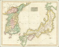 Japan and Korea Map By John Thomson
