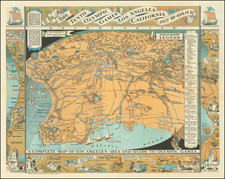 A Complete Map of Los Angeles Area and Guide To Olympic Games By Mary Hall Atwood