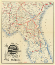 Florida Map By Rand, Avery & Co.