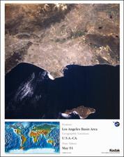 Los Angeles Map By NASA / Kodak