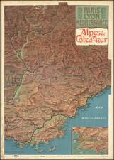 France Map By F. Hugo d'Alesi