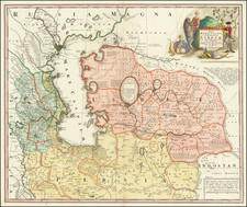Russia, Ukraine and Central Asia & Caucasus Map By A Maas