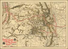 Colorado, Utah, New Mexico, Colorado and Utah Map By American Bank Note Company