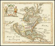 North America and California as an Island Map By Nicolas de Fer