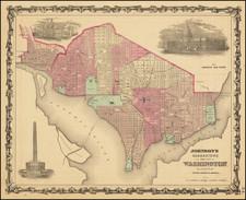 Washington, D.C. Map By Alvin Jewett Johnson  &  Benjamin P Ward