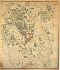 Washington Map By Oliver P. Anderson