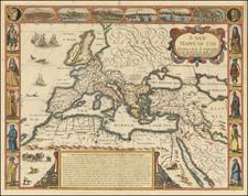 Europe, Italy, Turkey, Mediterranean and Turkey & Asia Minor Map By John Speed