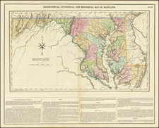 Maryland Map By Henry Charles Carey  &  Isaac Lea