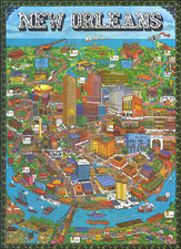 New Orleans Map By Trans Continental Cartographers