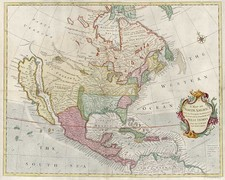 North America and California Map By Richard William Seale