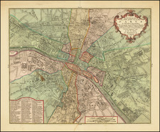 Paris Map By Isaak Tirion