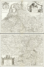Europe, Netherlands, Belgium, Switzerland, France and Germany Map By Vincenzo Maria Coronelli