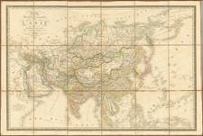Alaska and Asia Map By Adrien-Hubert Brué