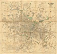 Scotland Map By John Bartholomew