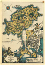 Pictorial Maps, Catalonia and Balearic Islands Map By A. A. Bucik