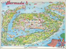 Bermuda and Pictorial Maps Map By Bing Chapelle
