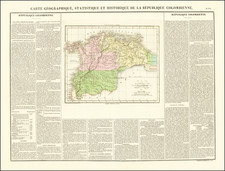 Colombia Map By Jean Alexandre Buchon