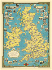 British Isles and Pictorial Maps Map By Ernest Dudley Chase
