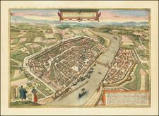 German Cities Map By Georg Braun  &  Frans Hogenberg