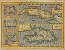 Cuba, Jamaica, Hispaniola, Puerto Rico and Other Islands Map By Jan Jansson