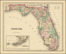 Florida Map By O.W. Gray