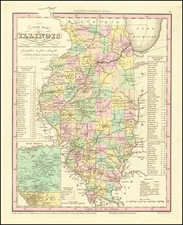 Illinois Map By Henry Schenk Tanner