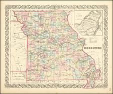 Missouri Map By Joseph Hutchins Colton