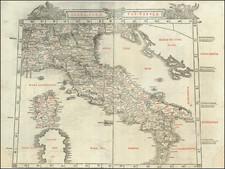 Italy Map By Bernardus Sylvanus