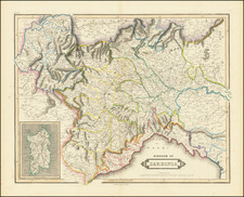 Northern Italy Map By Daniel Lizars