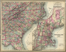 Connecticut, Maine, Massachusetts, New Hampshire, Rhode Island, Vermont, Florida, Tennessee, Southeast, Virginia, Georgia, North Carolina and South Carolina Map By Gaylord Watson