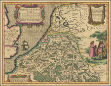 Netherlands, Belgium and Luxembourg Map By Petrus Kaerius