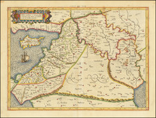 Europe, Mediterranean, Asia, Middle East, Holy Land and Balearic Islands Map By  Gerard Mercator