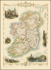 Ireland Map By John Tallis