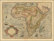 Africa Map By Jodocus Hondius