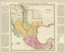 Texas, Southwest, Rocky Mountains and Mexico Map By Henry Charles Carey  &  Isaac Lea