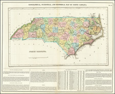 Geographical, Statistical and Historical Map of North Carolina By Henry Charles Carey  &  Isaac Lea