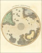 Southern Hemisphere, Polar Maps, Oceania and New Zealand Map By John Thomson
