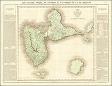 Carte Geographique, Statistique et Historique De La Guadeloupe By Jean Alexandre Buchon