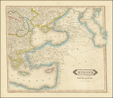 Central & Eastern Europe and Turkey Map By William Home Lizars