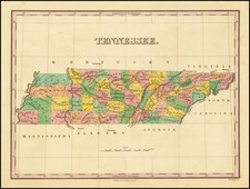 Tennessee Map By Anthony Finley