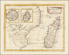 East Africa and African Islands, including Madagascar Map By Antonio Zatta