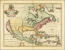 North America and California as an Island Map By