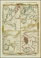 New England, New York City, New York State, Mid-Atlantic, New Jersey, Pennsylvania, Southeast, South Carolina, North America, Cuba and Boston Map By Thomas Conder