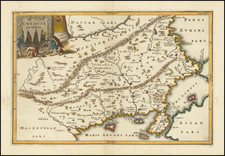 Bulgaria, Turkey and Greece Map By Christoph Cellarius