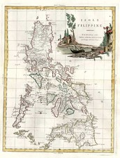 Asia and Philippines Map By Antonio Zatta