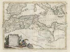Europe, Mediterranean, Balearic Islands, Africa and North Africa Map By Antonio Zatta