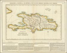 Hispaniola Map By Henry Charles Carey  &  Isaac Lea